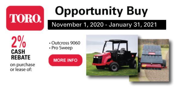 Golfmax/Toro Opp - Nov 1 2020 - Jan 31 2021