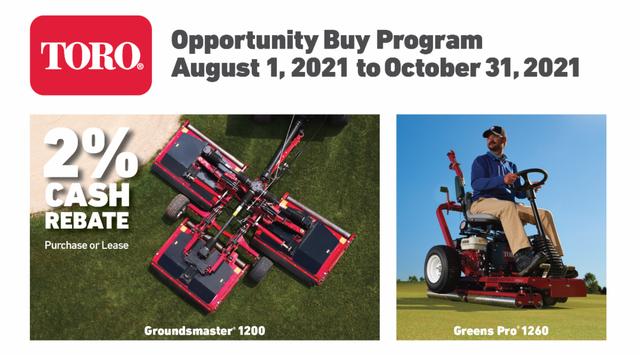 Golfmax/Toro Opp up to Oct 2021